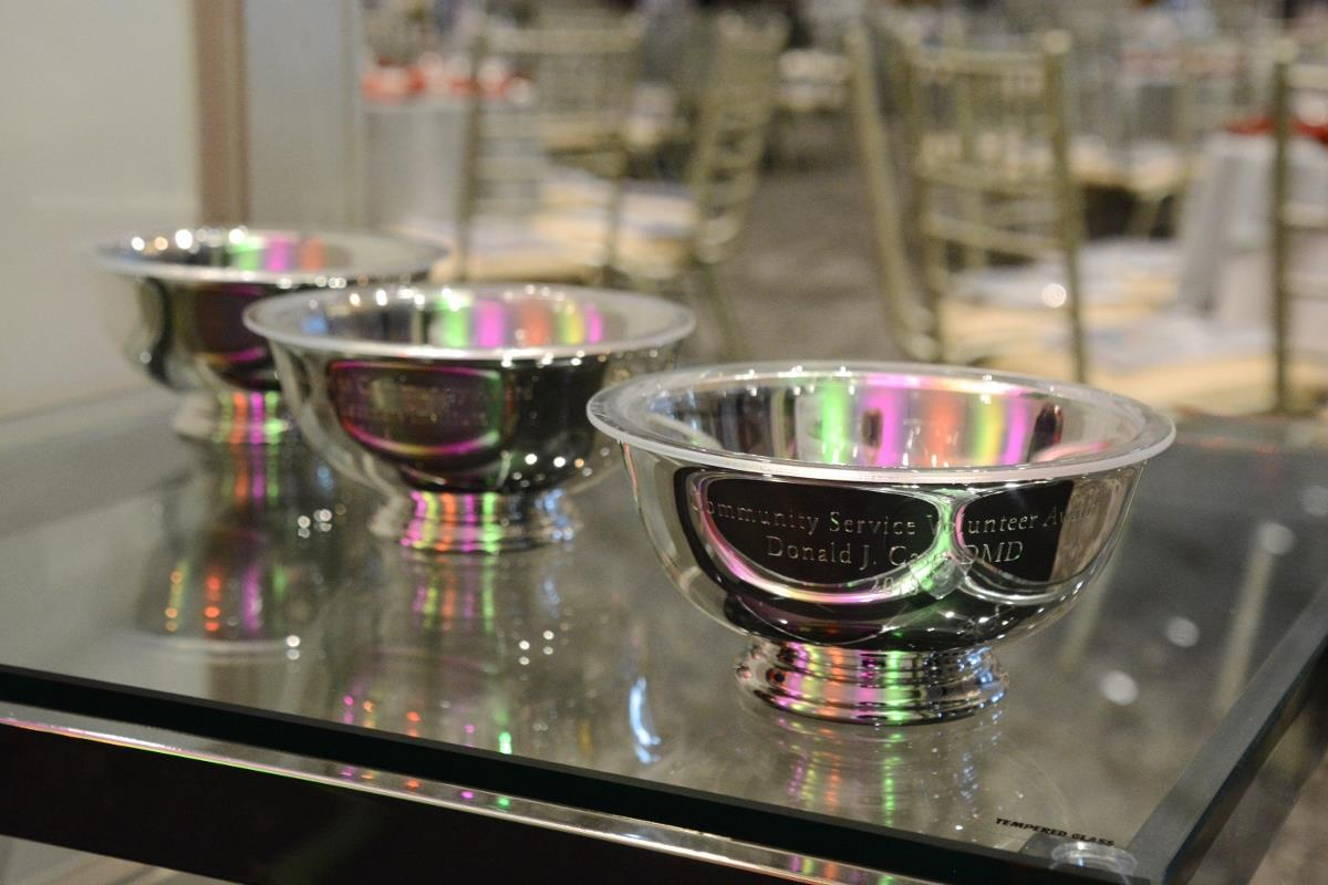 14-Three awards on table